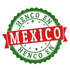 henco en mexico made in mexico grunge rubber stamp vector image