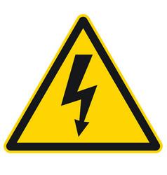 High voltage sign 001 vector