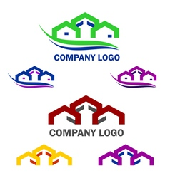 Home and construction logo and web icon set vector image