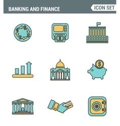 Icons line set premium quality of money making vector image