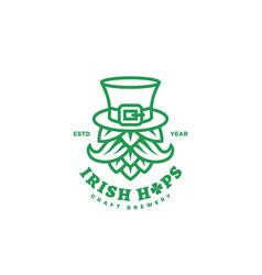 Irish hops logo vector