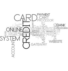is your website credit card friendly text vector image