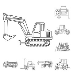 isolated object of build and construction sign vector image