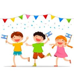 israeli kids vector image