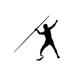 Javelin throw athlete disabled amputee vector