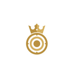 King target logo icon design vector