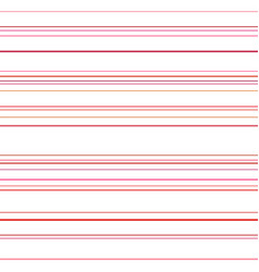 line seamless pattern red lines on white vector image