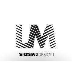 Lm l m lines letter design with creative elegant vector