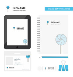 lollypop business logo tab app diary pvc employee vector image