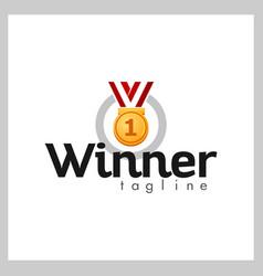 medal logo vector image