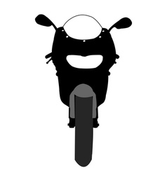 Motorcycle front view vector image
