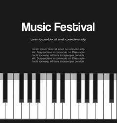 musical piano festival piano concert live vector image