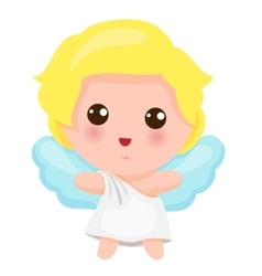 Of Cute Little Angel vector image vector image