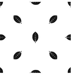 Plum leaf pattern seamless black vector