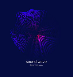 Poster of the sound wave music vector