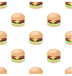 Ready burger with all the ingredientsburgers and vector