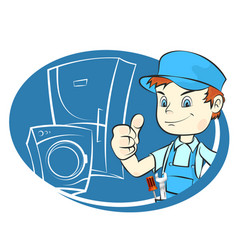 Repair refrigerators and washing machines vector