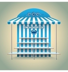 Sea food stand vector image