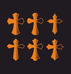 Set of crosses vector
