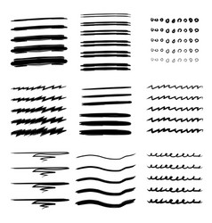 set of hand drawn line vector image