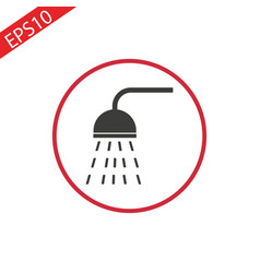 shower icon flat in vector image