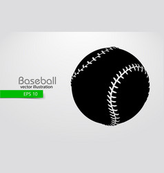 Silhouette of a baseball ball vector
