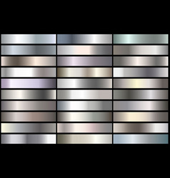 silver gradients vector image