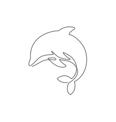 Single continuous line drawing friendly cute vector