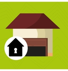 Smart home with shapehole isolated icon design vector