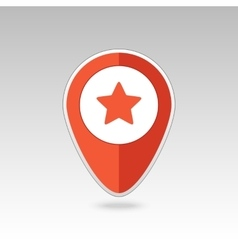 Star favorite pin map icon Map pointer markers vector image
