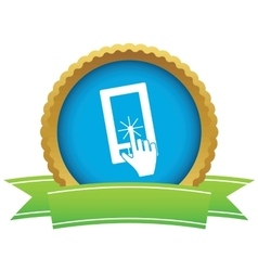Touchscreen certificate icon vector image