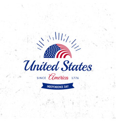 United states of north america logo vintage vector