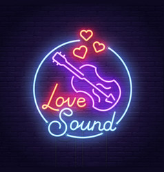 Valentines day love sound banner and logo vector