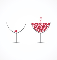 Wine love vector