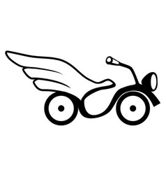 wing bike stencil vector image