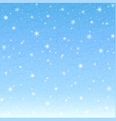 winter christmas background falling snow vector image