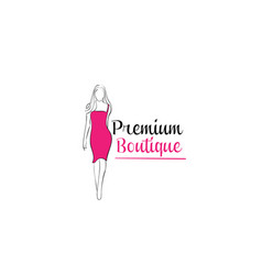 women shape boutique vector image