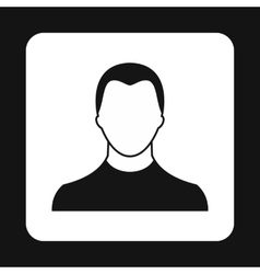 Young man with haircut avatar icon simple style vector