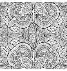 abstract ethnic sketchy background vector image vector image