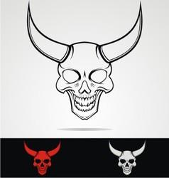 Devils Head Tribal vector image vector image