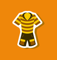 paper sticker fashion clothes shorts and polo vector image