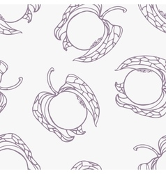 Stylized seamless pattern with outline style vector image vector image