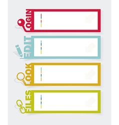 Web panel Set Infographics number options template vector image vector image