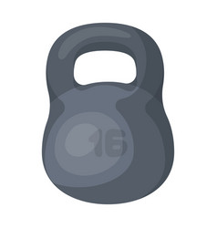a large metal weight of 16 kg iron for strong vector image