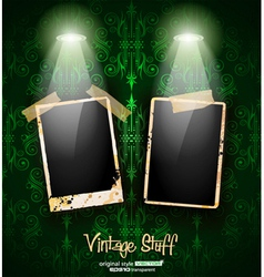 antique distressed photoframes vector image vector image