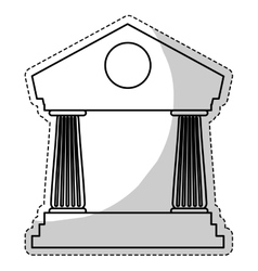 bank icon image vector image vector image