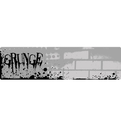 grunge brick banner vector image vector image