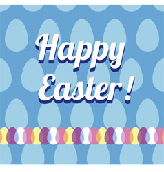 Happy Easter Card and Seamless Pattern vector image