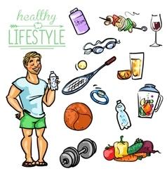 Healthy lifestyle - man vector