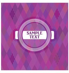 Label on a purple backgroun vector image